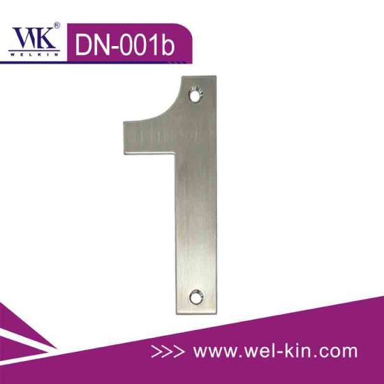 Stainless Steel Door Number Plate (DN-001b)