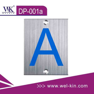 Stainless Steel Toilet Sign Plate (DP-001A)