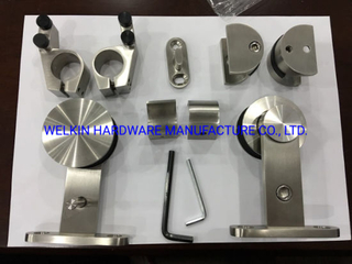 Stainless Steel European Sliding Door Kit Fittings for Wood Door