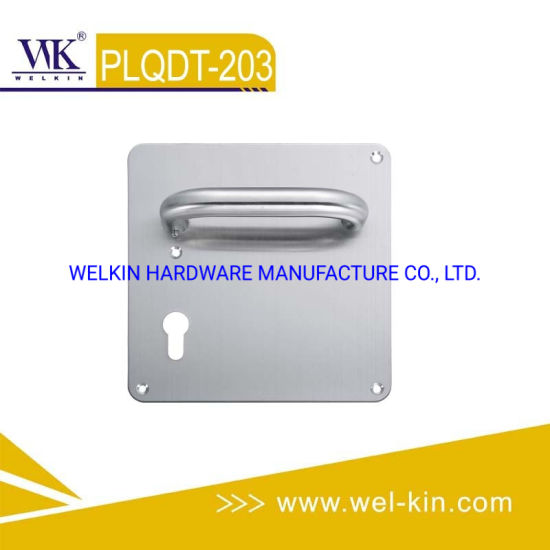 Stainless Steel Door Lever Handle on Plate for Wood Door (PLQDT-203)