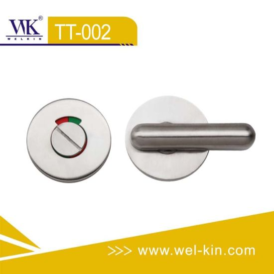 Stainless Steel Toilet Thumb Door Lock TT-002
