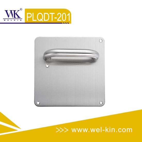 Stainless Steel 304 Tube Door Handle with Plate (PLQDT-201)
